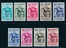 "VENEZUELAN 1952, Mi. 747-55 **/MNH, ""Aragua, airmail"", very fresh and fine!"