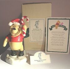 """DISNEY POOH & FRIENDS-NIB! """"WISHING YOU THE SWEETEST HOLLIDAY EVER"""" Pooh 5"""" Tall"""
