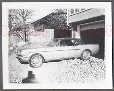 Vintage Car Polaroid Photo 1965 1966 Ford Mustang Convertible Automobile 762717