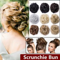 Curly Messy Bun Hair Piece Scrunchie Cover Hair Extensions Short Hair Hot