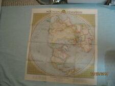 VINTAGE NORTHERN HEMISPHERE MAP National Geographic February 1946