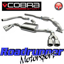 "Cobra Audi TT MK2 1.8 & 2.0 TFSi 3"" Turbo Back Exhaust & Downpipe Sport Cat Quad"