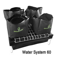 COMPLETE 4 X 9L BAGS 60X60 HYDROPONIC SYSTEM WATERING GROWING KIT + WATER PUMP