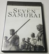 Seven Samurai (Dvd, 1998, Criterion Collection) Excellent Condition! Free Ship!