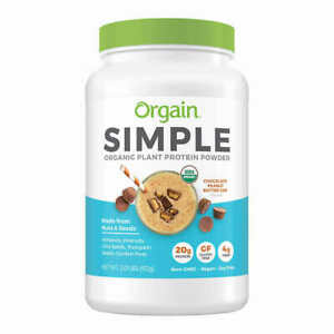 Orgain USDA Organic Simple Plant Protein Powder, Peanut Butter Cup