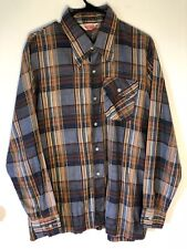vintage levis panatela tops mens shirt 60' 70' Check size x-large flip pocket