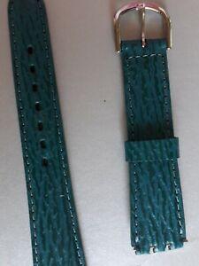 BRACELET  DE MONTRE watch band  /// cuir VACHETTE pour swatch vert  20mm  /KF16