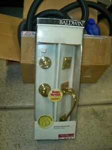 New Baldwin Entrance Door Handle set Lock Set Solid Forged Brass Madison 5320