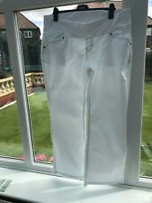 Next Size 18R Maternity White Jeans