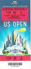 2014 US OPEN TENNIS ROGER FEDERER SERENA WILLIAMS SESSION #4 TICKET STUB 8/26