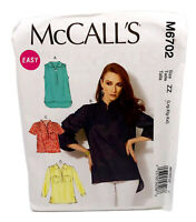 Easy Misses Back Yoke Pullover Tops McCalls Sewing Pattern Size ZZ  L-XL-XXL