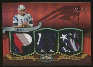 2009 Topps Triple Threads Red Tom Brady New England Patriots Multi-Patch 9/25