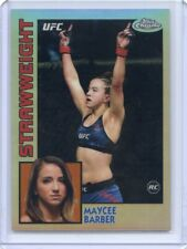 2019 Topps UFC Chrome MAYCEE BARBER RC Refractor 84 Set Insert Rookie 84T-MB