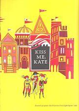 """Cole Porter """"KISS ME KATE"""" Patrice Munsel / Avon Long 1964 Souvenir Program"""