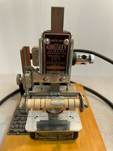 Vintage Kingsley Stamping Machine Stamping Foil Embossing Machine Working