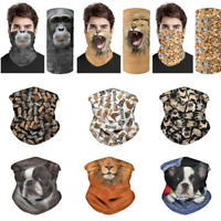 Multi-function Neck Gaiter Bandana Headband Half Face Cover Balaclava Tube Scarf