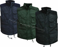 New Mens Lined Padded Gilet Body warmer Body Coat Country Hunting Shooting M-XXL