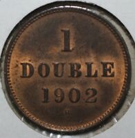 Guernsey 1 Double Coin, 1902 H - KM# 10 UK Channel Islands One ONLY 84K MINTED!