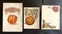Rare Halloween Themed Invitation Card Samples From Early 1900's Embossed Paper