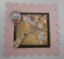 PK 2 LETS CELEBRATE ON YOUR 21ST BIRTHDAY TOPPER EMBELLISHMENT FOR CARDS & CRAFT