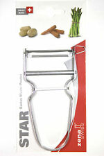 Zena Swiss STAR Potato & Vegetable Peeler - STAINLESS STEEL BLADE Free Shipping