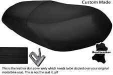 BLACK STITCH CUSTOM FITS YAMAHA VITY 125 DUAL REAL LEATHER SEAT COVER
