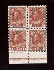 Canada #114 VF Mint Lathework D Block