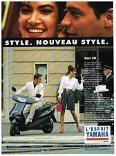 PUBLICITE ADVERTISING  1992   YAMAHA  scooter ZEST