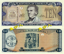 Liberia 10 Dollars 2011 year BrandNew Banknotes