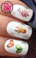CHRISTMAS NAIL ART STICKERS DECALS RUDOLPH REINDEER SNOWFLAKES CANDY CANE #838