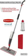 Rubbermaid Reveal Spray Mop Kit w/ Microfiber Washable Pad and Bottle 2856049