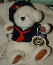 1996 Vintage Taylor the Sailor Brass Button Stuffed Bear of Happiness Pickford
