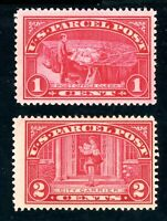 USAstamps Unused FVF US 1913 Parcel Post Scott Q1 MNH, Q2 OG MLH