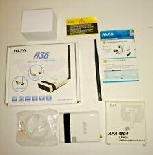 New ALFA R36 WiFi USB Portable Router and New Alfa APA-M04 Hi Gain Panel Antenna
