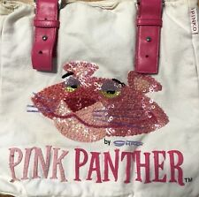 Pinko Rare Ltd 40th Anniversary Pink Panther By Shag/Josh Agle Beaded Tote Bag