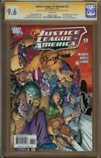 Justice League of America #13 CGC 9.6 SS Signed JOE BENETIZ & DWAYNE MCDUFFIE