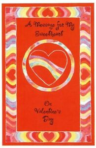 A Message For My Sweetheart On Valentines Day - Valentines Greeting Card - V3-1