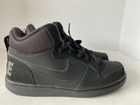 NIKE COURT BOROUGH MID BLACK BASKETBALL SNEAKERS 839977-001 SIZE 7Y