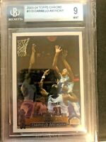 🔥🔥2003 Topps Chrome Carmelo Anthony ROOKIE CARD #113 BGS 9 🔥🔥