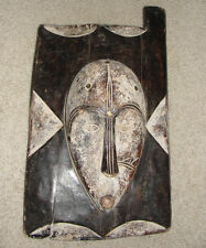 VERY OLD BAULE IVORY COAST DOOR WALL WINDOW MASK AFRICA TRIBAL ANTIQUE FANG NGIL