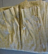 Vintage Heavy Pinch Pleat Brocade Drapes 2-Panels 48�wide x 84� long