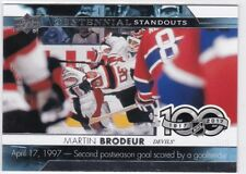 2017-18 Upper Deck Eishockey, Centennial Standouts, Martin Brodeur, #CS-98