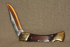 VINTAGE 4 PIN UNCLE HENRY SCHRADE KNIFE LB7 POCKET KNIFE W/ LEATHER SHEATH