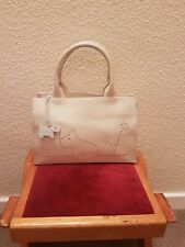 Radley Ivory Leather Handbag With dog