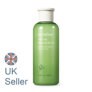 Innisfree Green Tea Balancing Skin(Toner) 200ml, Combination/Oily Skin,UK Seller