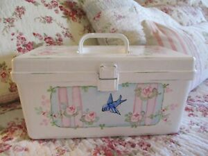 Shabby Chic Hand Painted Roses - Tote Box