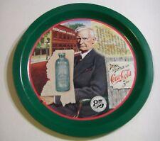 FIRST BOTTLING OF SODA TRAY Joseph Biedenharn COCA-COLA Platter POP HISTORY 1979