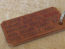USAF USAAF Air Force Bomb tag zip pull Embossed and made from Leather - repro