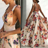 Women Boho Long Maxi Dress Ladies Cocktail Party Evening Summer Beach Sundress