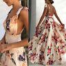Women Boho Long  Beach Sundress Ladies Cocktail Party Evening Summer Maxi Dress